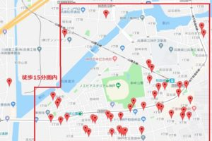 ノエビアスタジアム神戸周辺駐車場